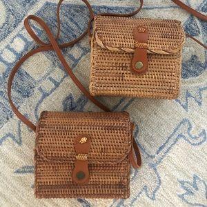 Handbags - Rattan straw purse